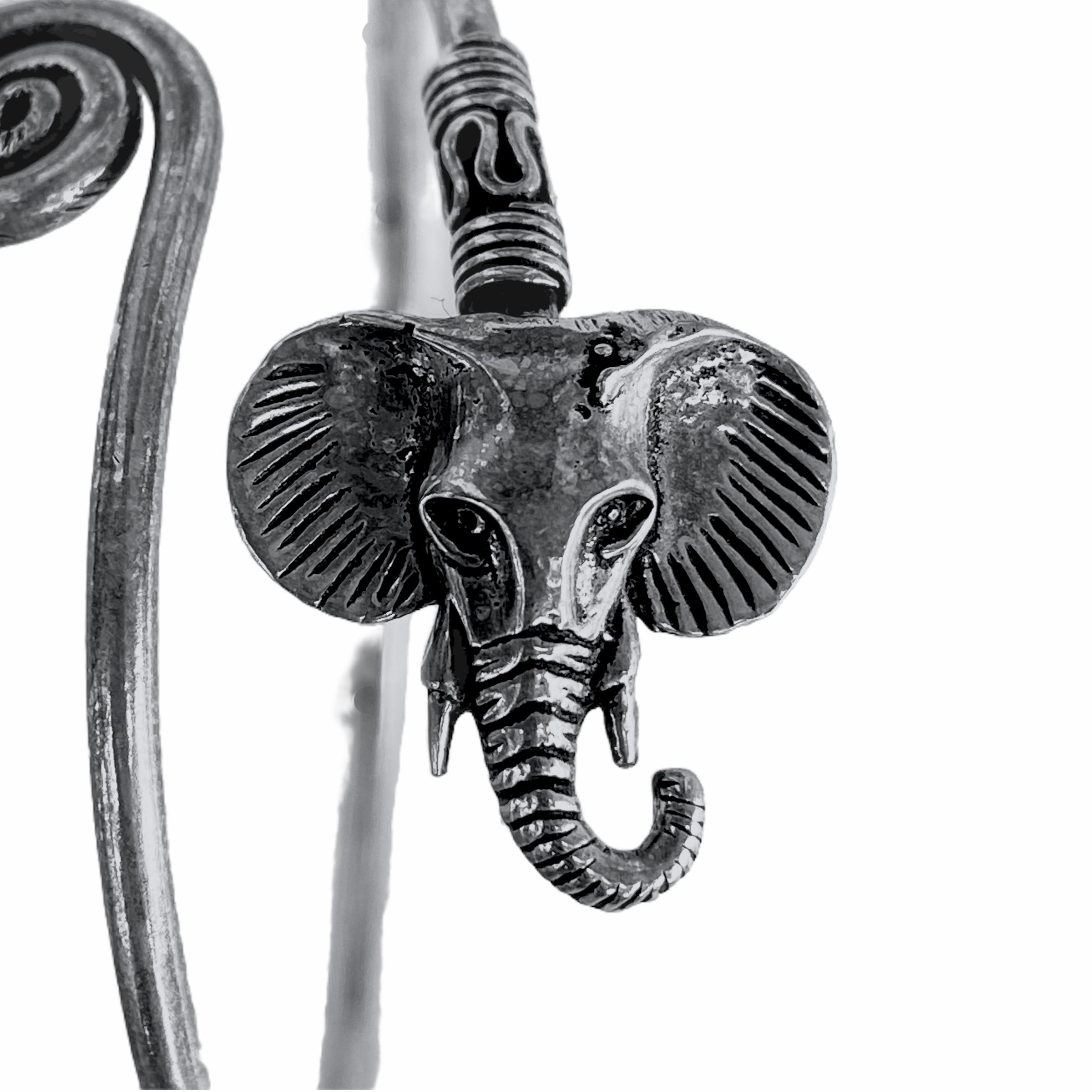 Βραχιόλι Χειροποίητο Ελέφαντας Ασημί
