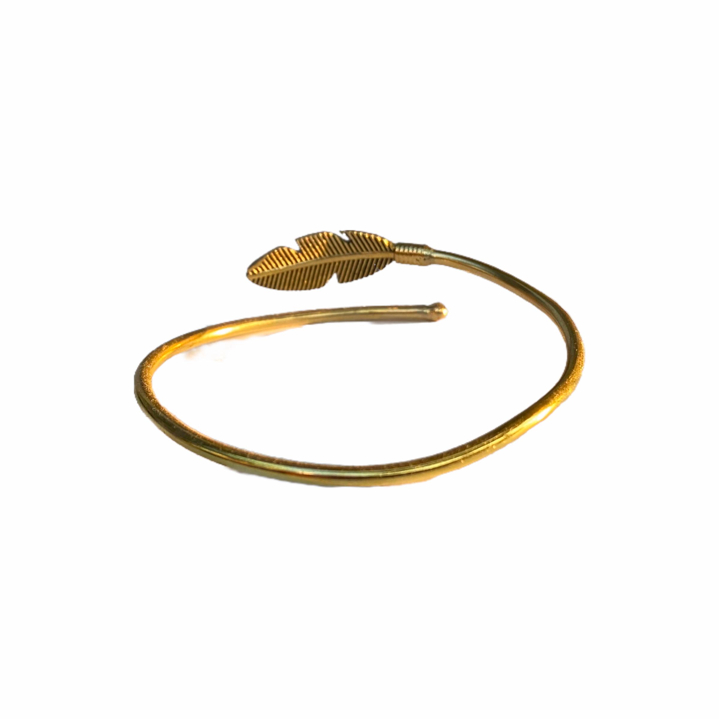 Βραχιόλι Χειροποίητο Φτερό Σε Χρυσό Χρώμα
