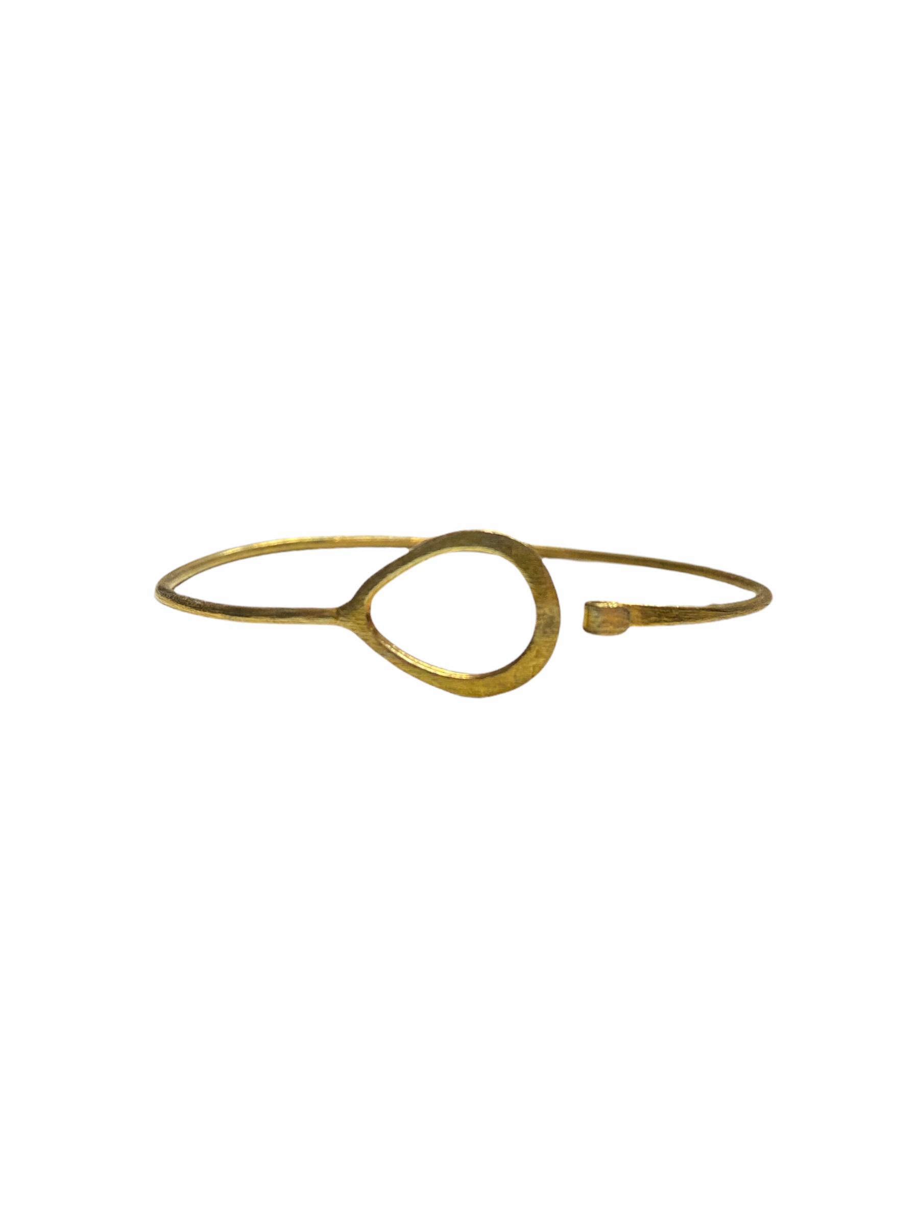 Βραχιόλι Χειροποίητο Δάκρυ Σχήμα Σε Χρυσό Χρώμα