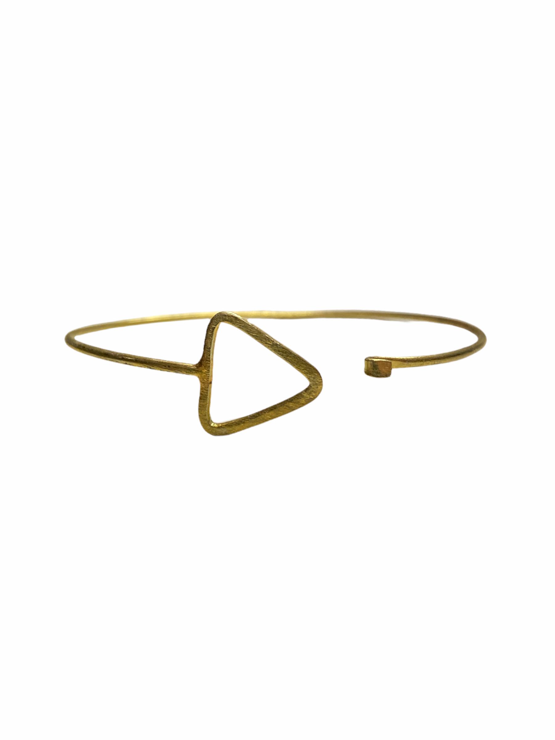 Βραχιόλι Χειροποίητο Τρίγωνο Σχήμα Σε Χρυσό Χρώμα