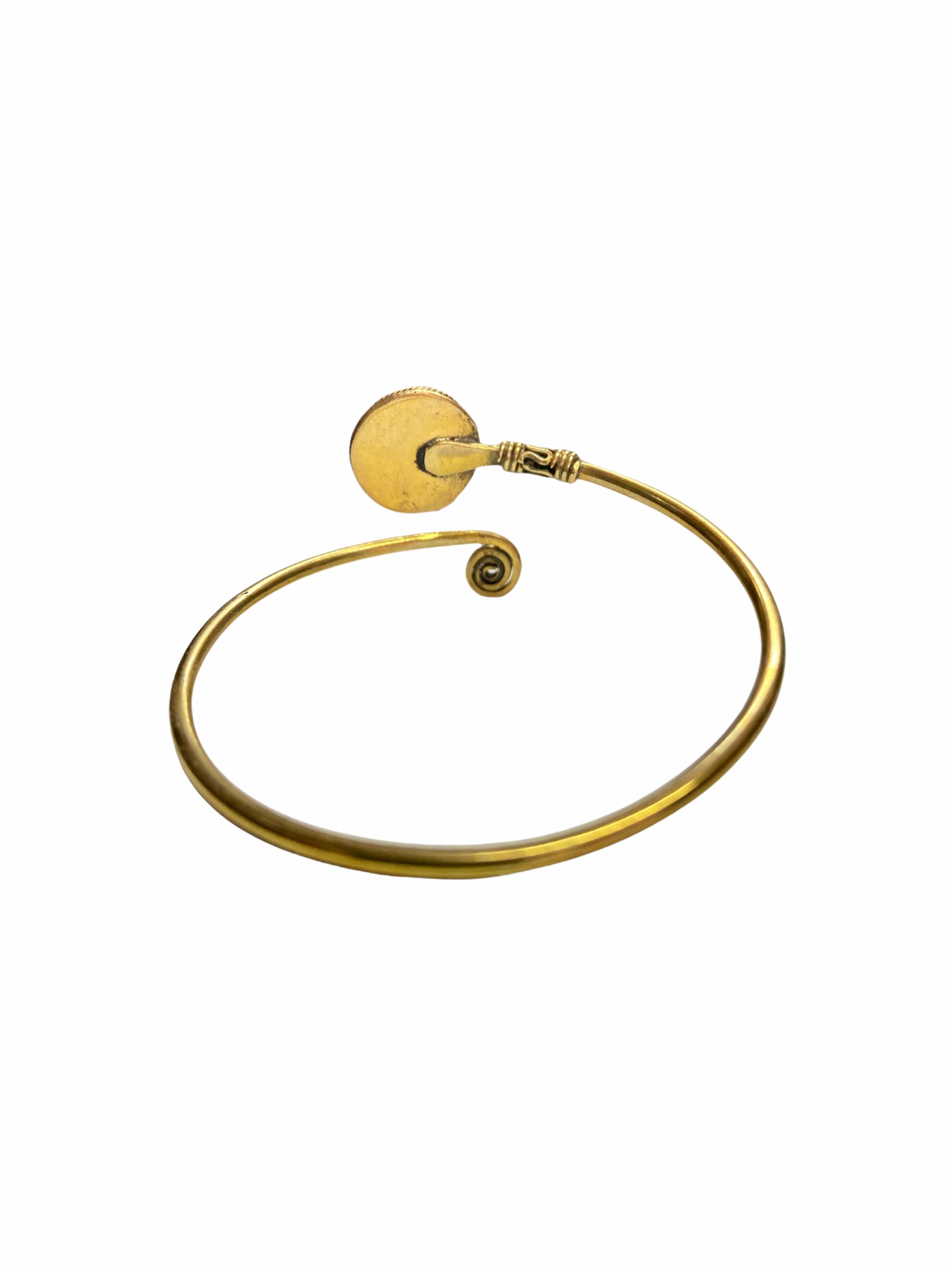 Βραχιόλι Χειροποίητο Minimal Με Αμέθυστο Σε Χρυσό Χρώμα