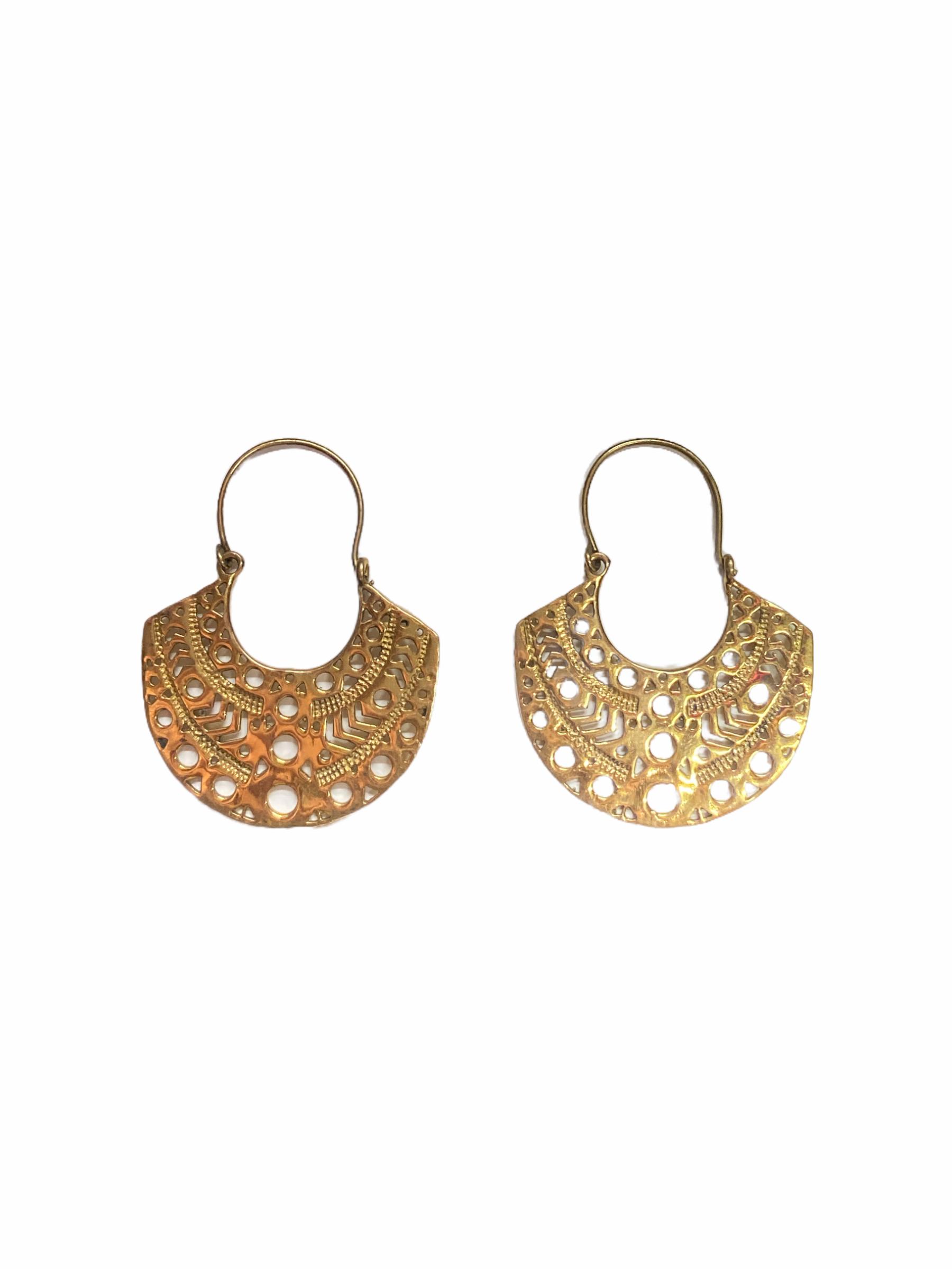 Σκουλαρίκια Χειροποίητα Σε Χρυσό Χρώμα