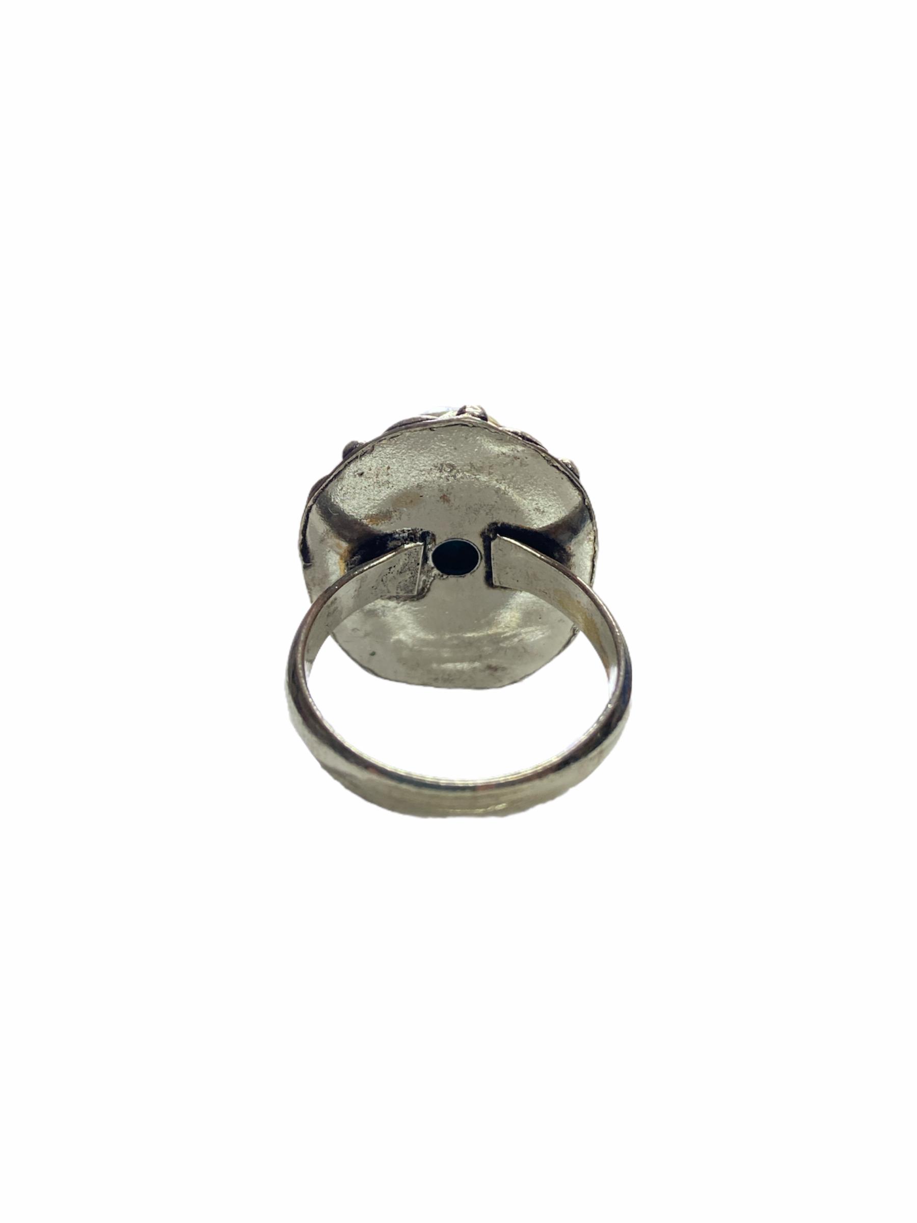 Δαχτυλίδι Χειροποίητο Με Τιρκουάζ Ασημί