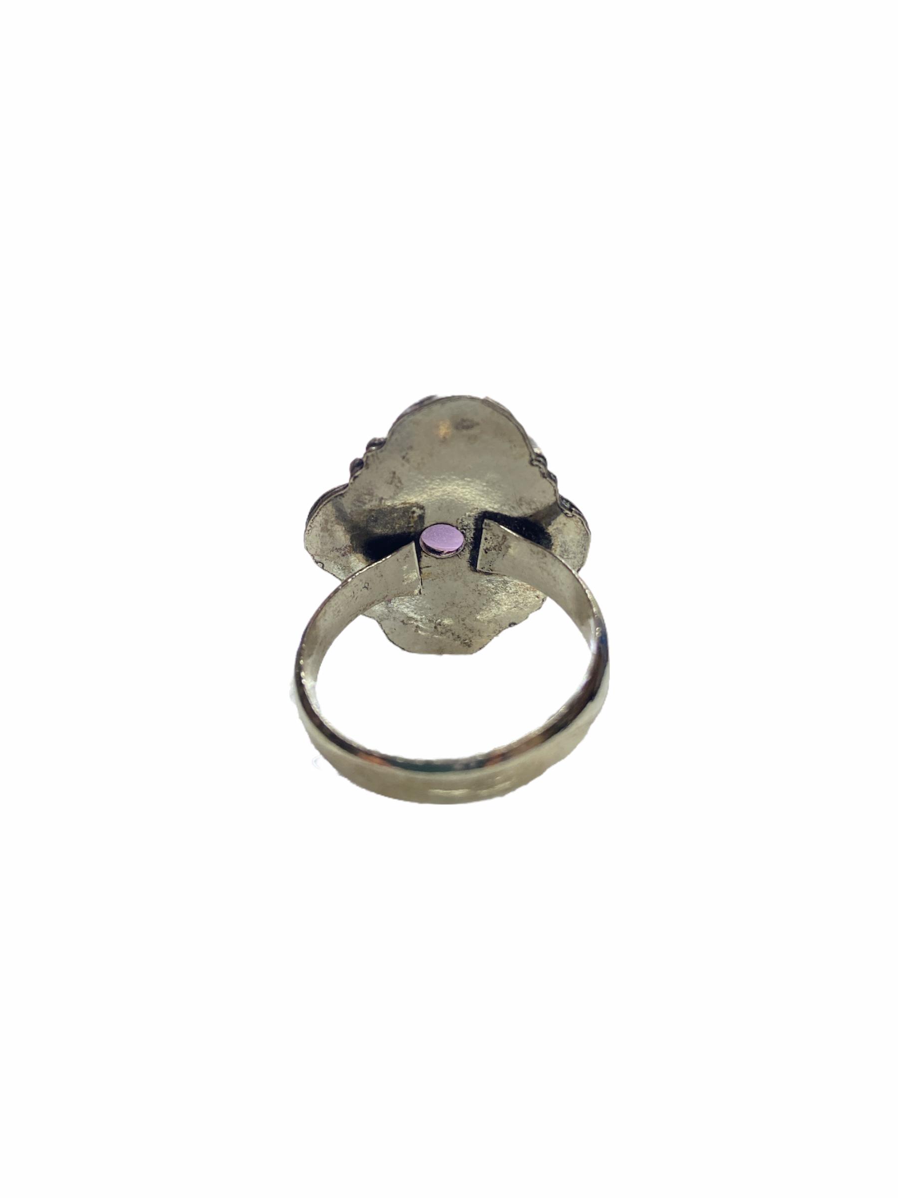 Δαχτυλίδι Χειροποίητο Αμέθυστο Με Ασημί