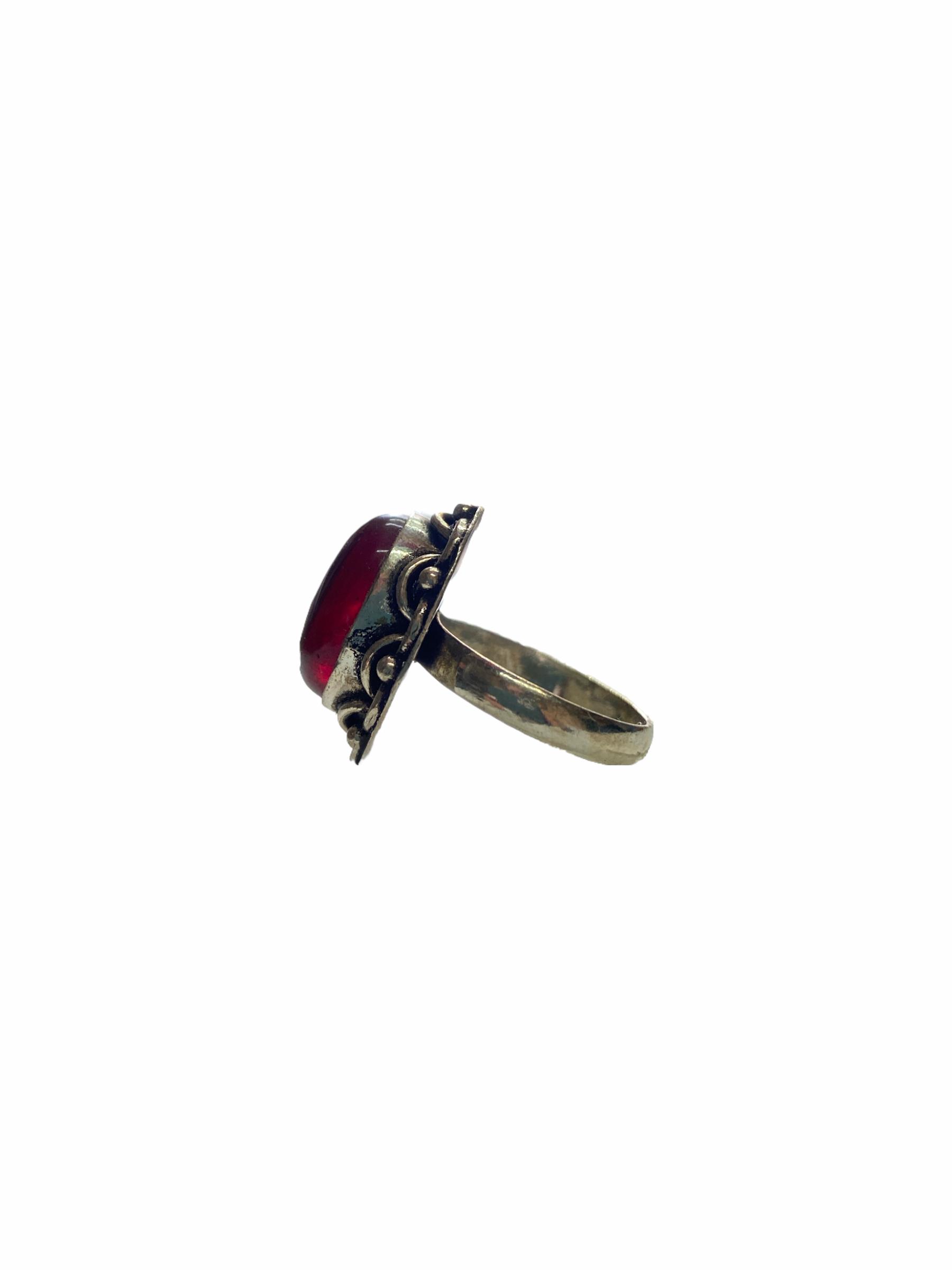 Δαχτυλίδι Χειροποίητο Με Αμέθυστο Ασημί