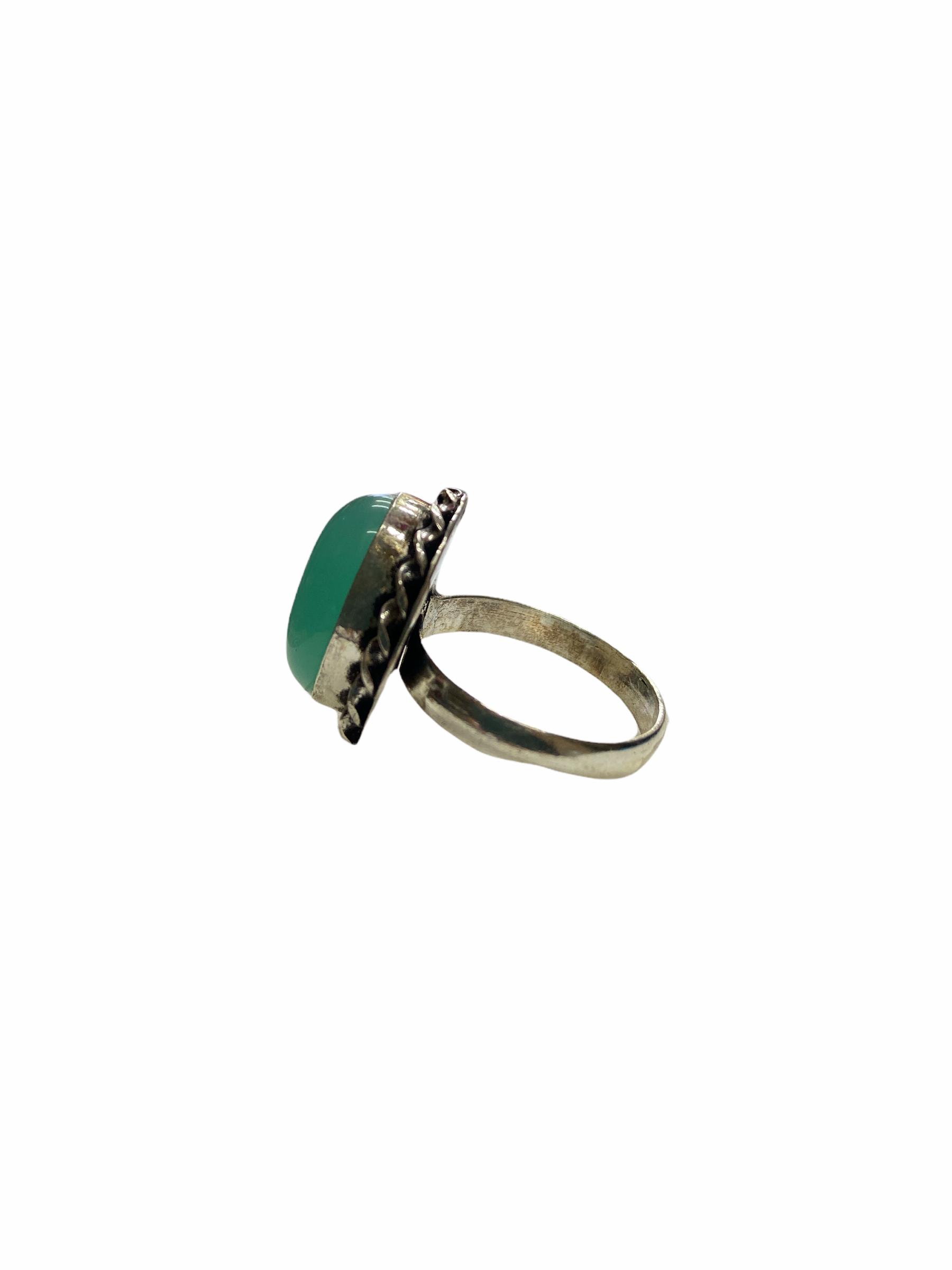 Δαχτυλίδι Χειροποίητο Με Οπάλιο Ασημί