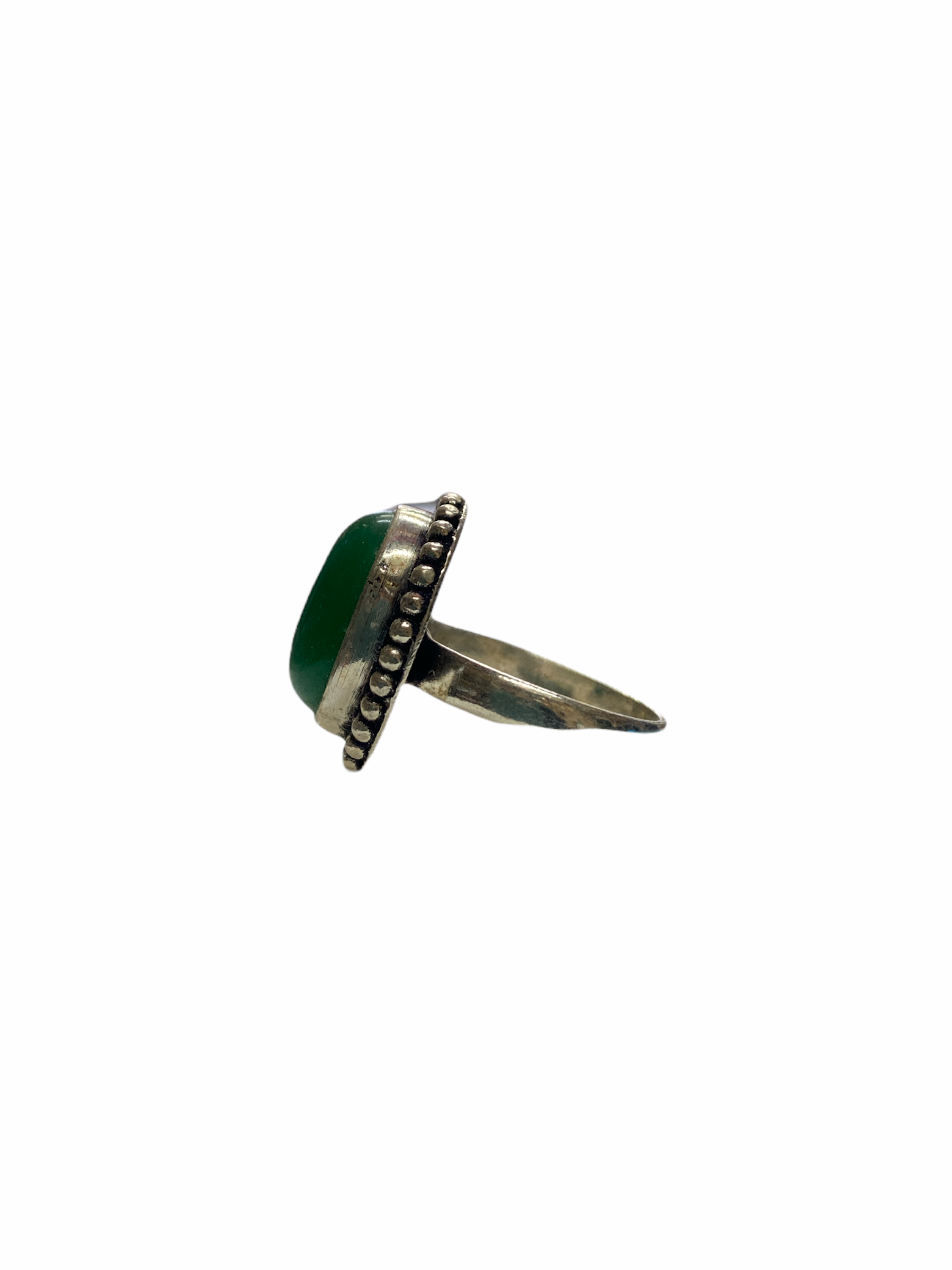 Δαχτυλίδι Χειροποίητο Με Αβεντουρίνη Πράσινη Ασημί