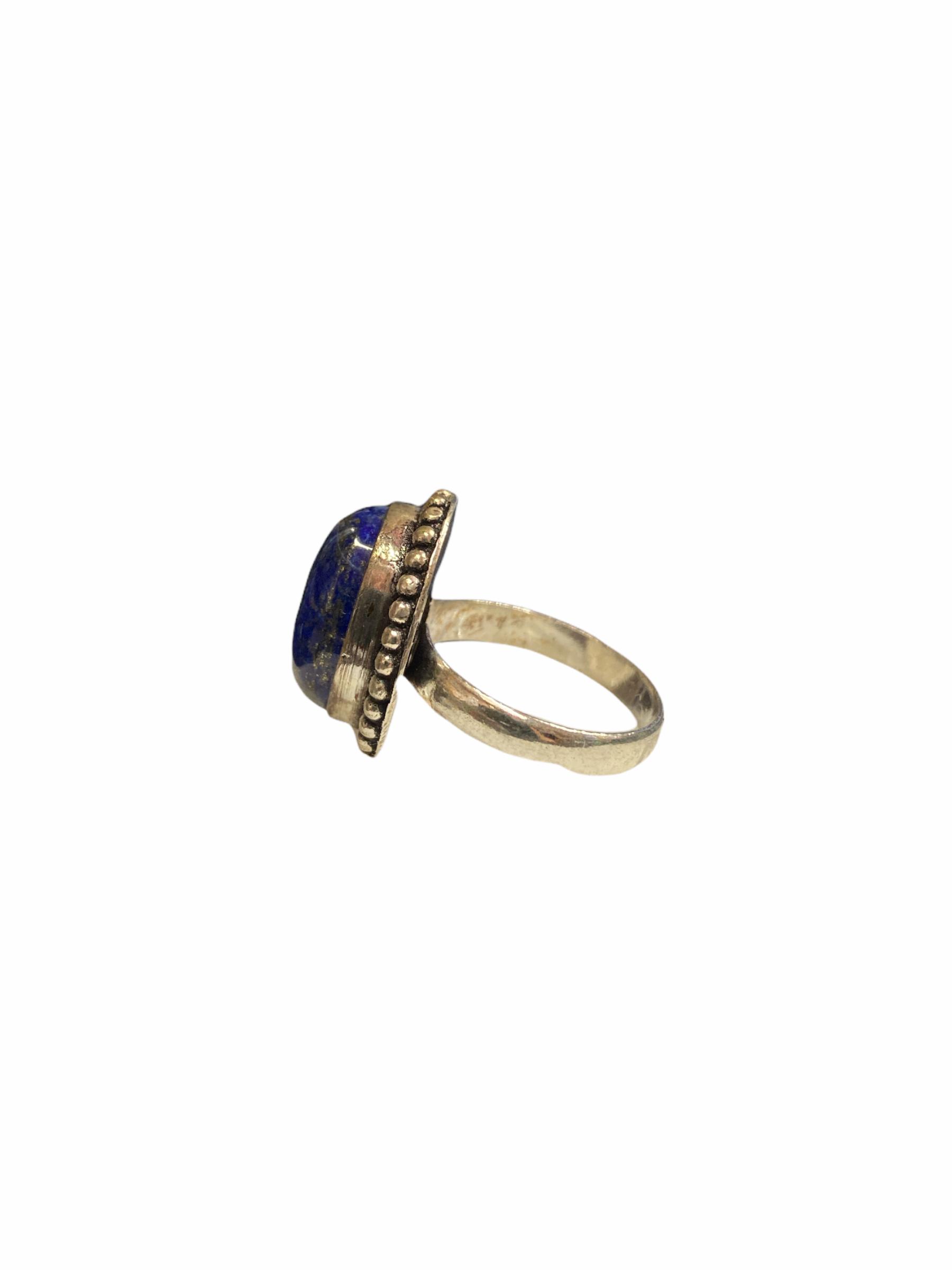 Δαχτυλίδι Χειροποίητο Με Λάπι Λάζουλι Ασημί