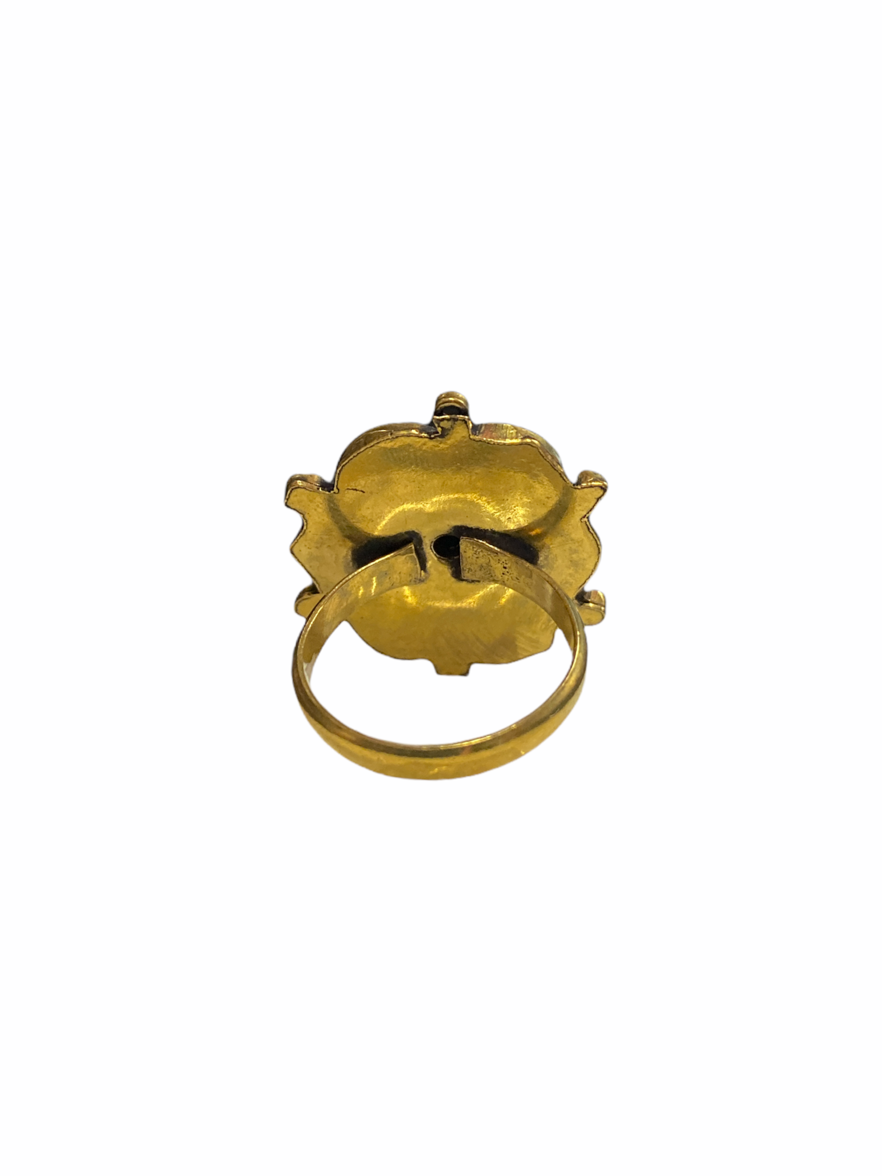 Δαχτυλίδι Χειροποίητο Με Οψιδιανό Σε Χρυσό Χρώμα