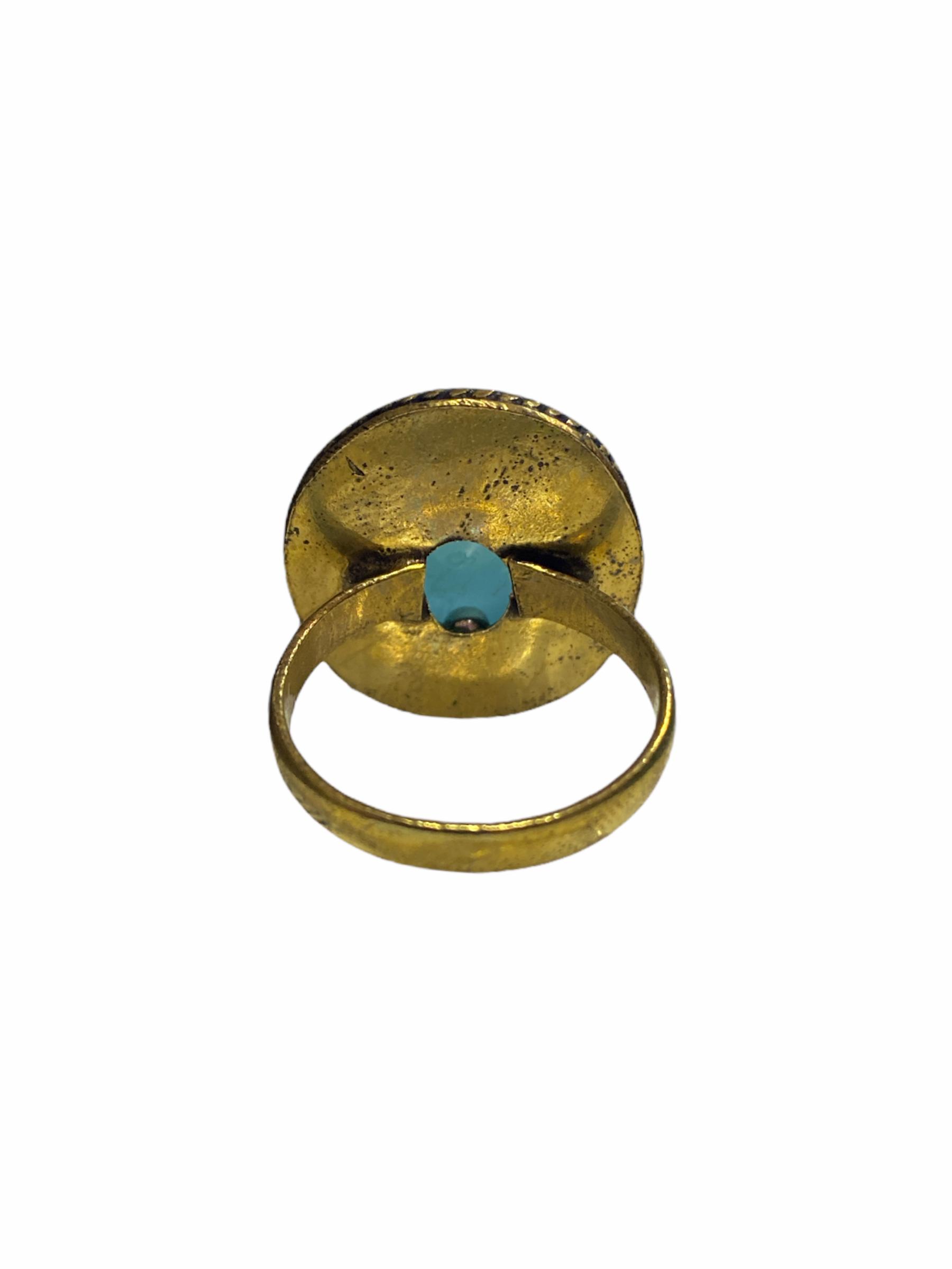 Δαχτυλίδι Χειροποίητο Με Οπάλιο Σε Χρυσό Χρώμα