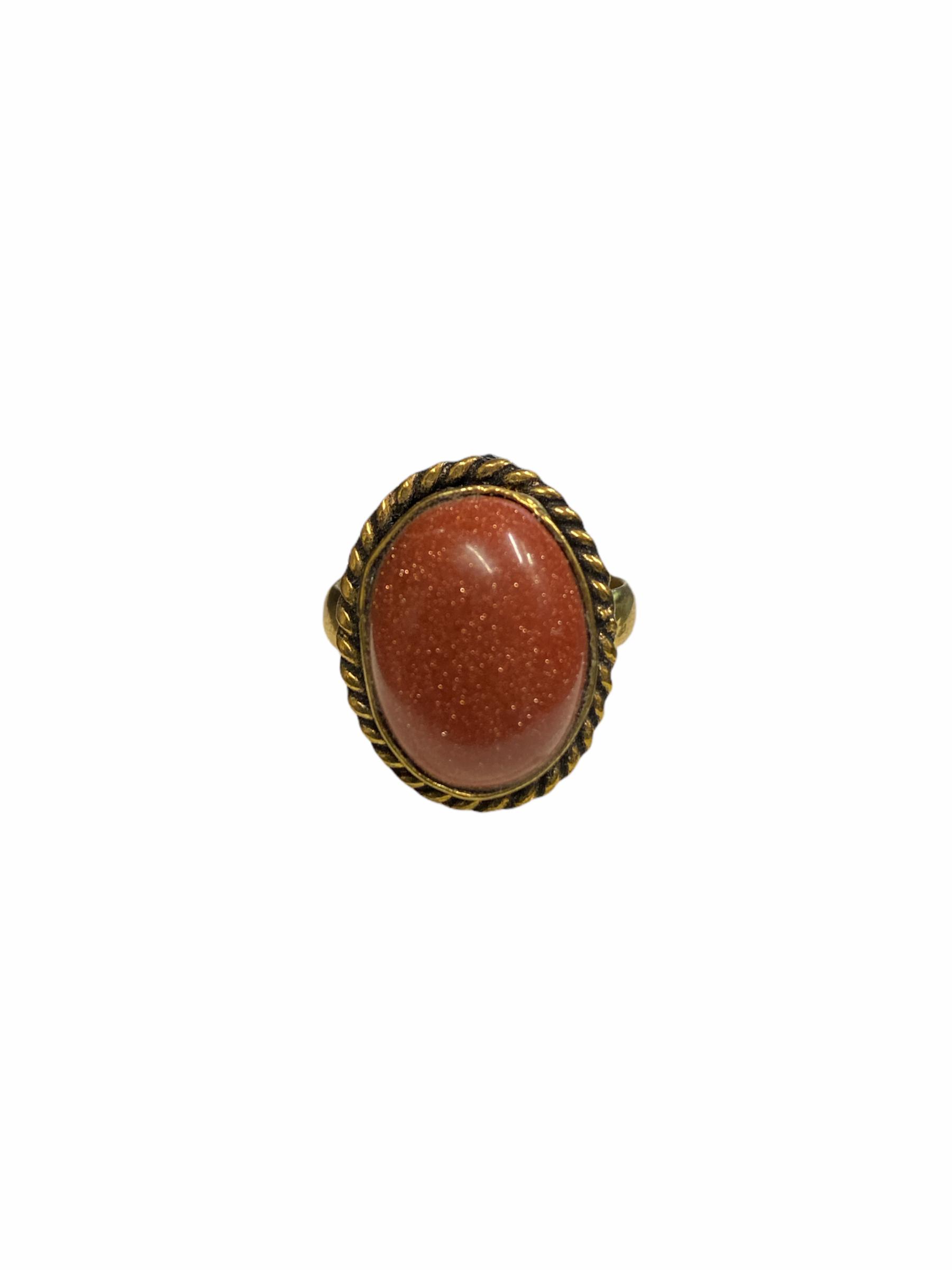 Δαχτυλίδι Χειροποίητο Με Ίασπι Σε Χρυσό Χρώμα