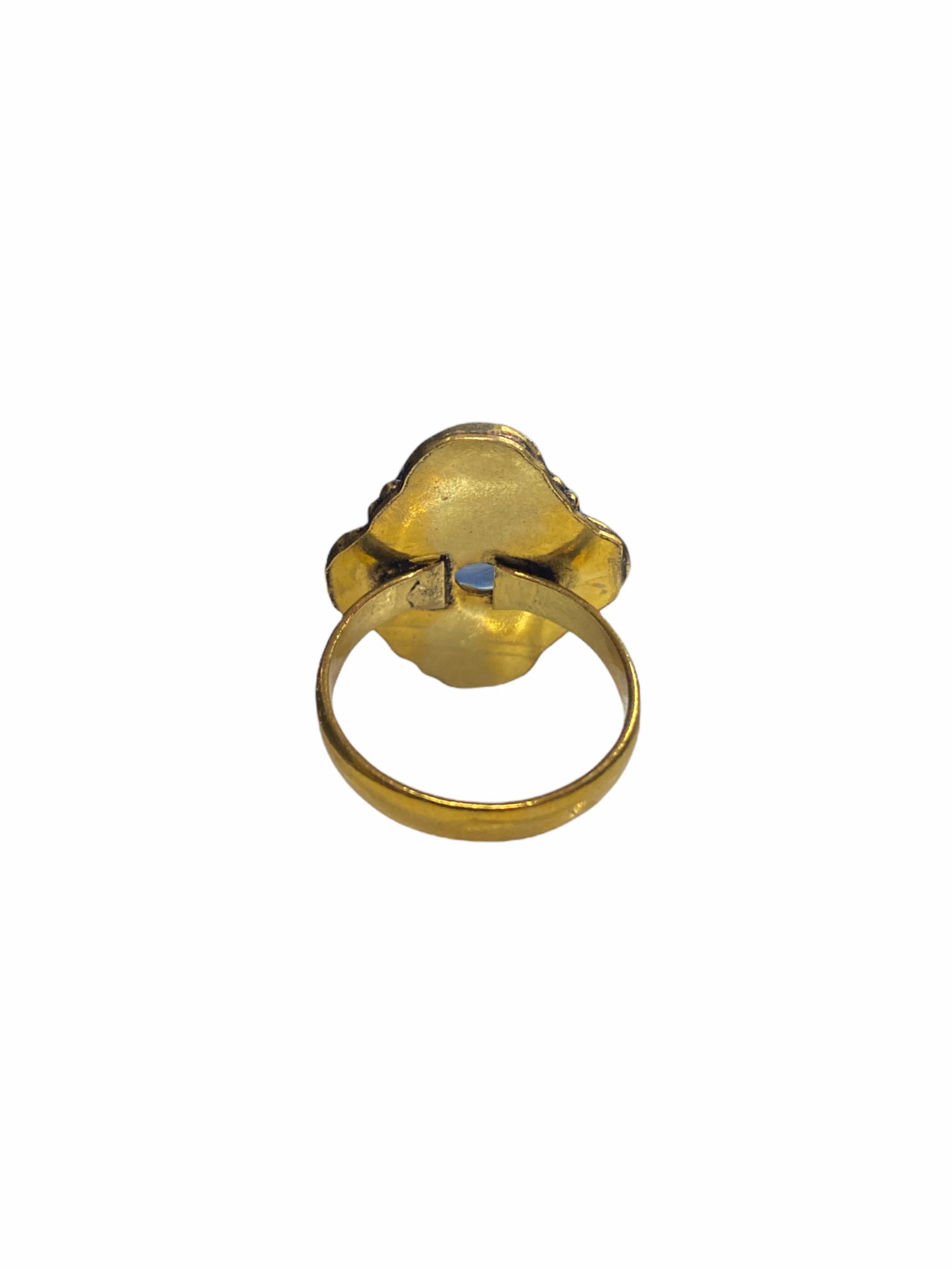 Δαχτυλίδι Χειροποίητο Με Διάφανο Χαλαζία Σε Χρυσό Χρώμα