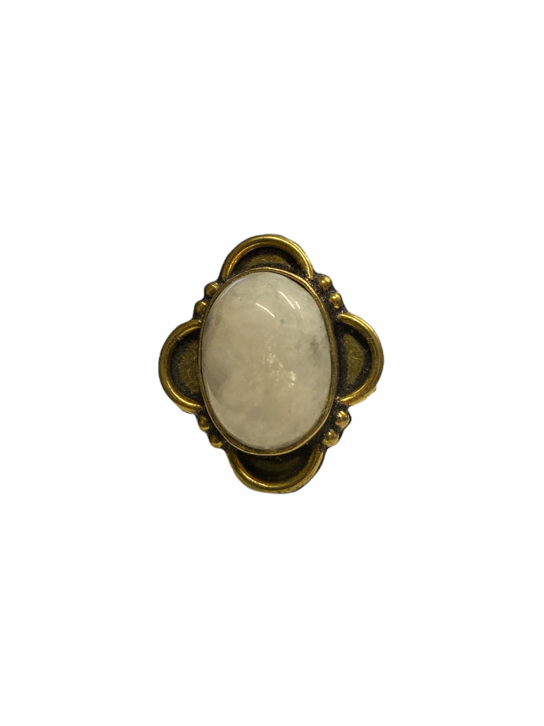 Δαχτυλίδι Χειροποίητο Με Φεγγαρόπετρα Ασημί