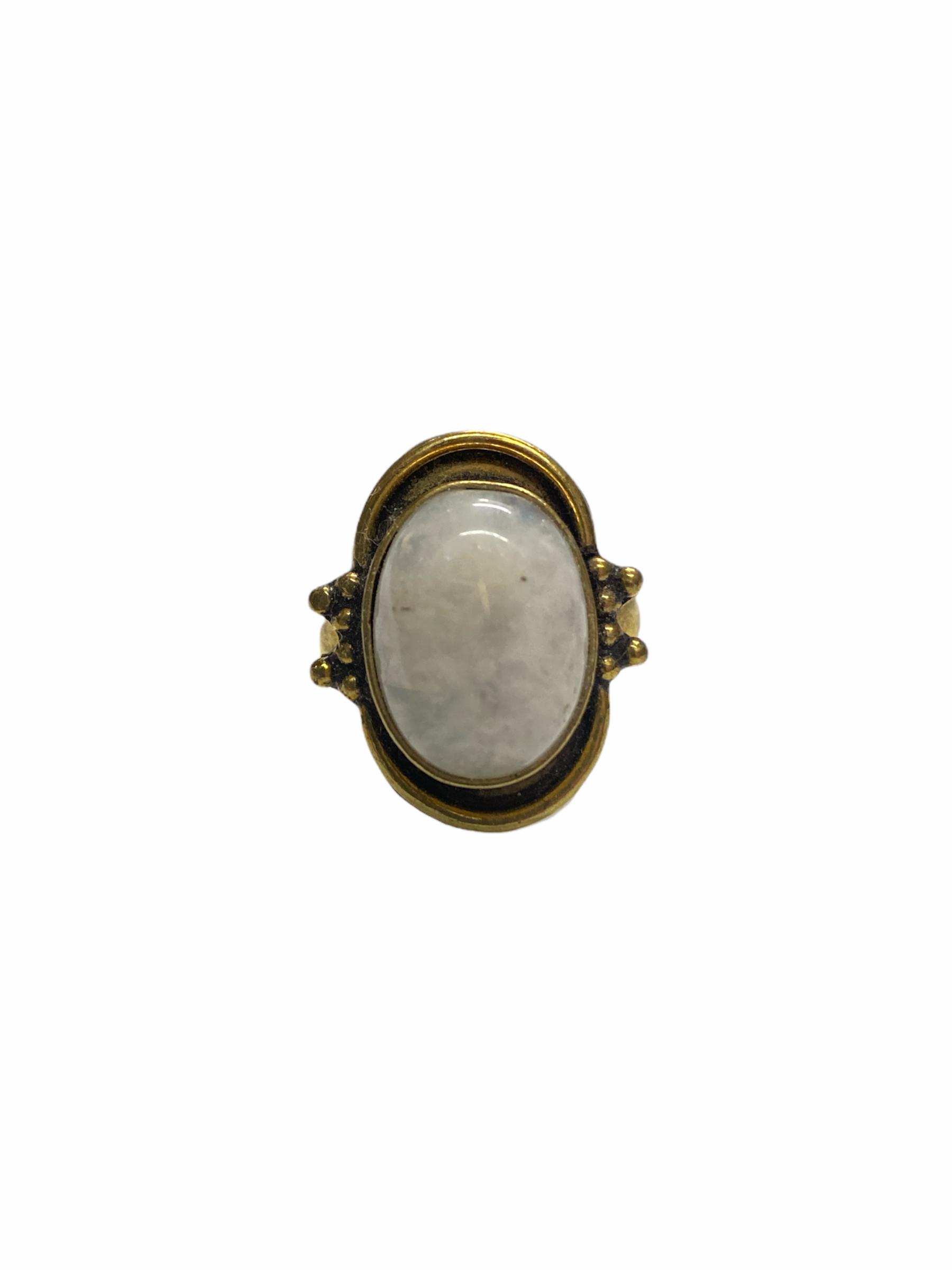 Δαχτυλίδι Χειροποίητο Με Φεγγαρόπετρα Σε Χρυσό Χρώμα